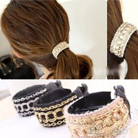 Wholesale Fashionable Luxury Cute Women Gold Chain Hair Clip Hair Barrette Ponytail Holder MRH