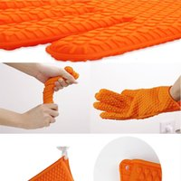 barbecue smoking - Heat Resistant Silicone BBQ Grill Oven Gloves and barbecue gloves for Cooking Baking Smoking Potholder SLIP RESISTANT