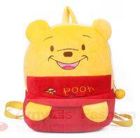 baby pooh characters - Cute Pooh for years old nursery baby shoulder bag schoolbag cartoon backpack microfiber backpack for kids