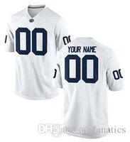 Wholesale Men s Women Youth Kid Penn State Nittany Lions Personalized Custom College Football jersey White Navy Blue Top Quality Drop Shipping jerseys