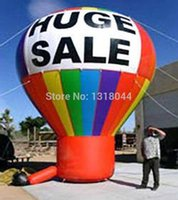 Wholesale Hot sale advertising M giant inflatable rainbow air balloon with blower