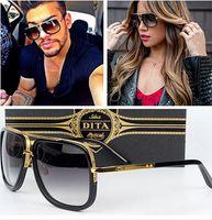 Compra Gafas para hombre-Dita Mach Un Gafas De Sol Gradient De Gafas De Sol Con Original Box Hombre Mujer Marca Gafas De Sol De Diseño Vintage Retro Oculos De Sol Gafas