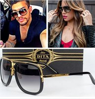 al por mayor gafas de sol mujer original-Dita Mach Un Gafas De Sol Gradient Graduación con caja original Hombre Mujer Marca Gafas De Sol De Diseño Vintage Retro Oculos De Sol Gafas