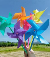amusement parts - simple four corners solid color windmill toy children outdoor sports rotating Amusement color random mixed batch
