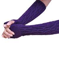 Wholesale hot sell Amazing Winter Women Fingerless Knitted Long Gloves Female Fashion