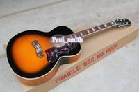 Wholesale Custom shop guitars Acoustic Top quality G Guitar the gold metal part headcase hard wood Hot Selling Guitar beautiful orange