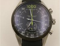 auto stop black - quartz Watches New arrived Full feature Watch Chronograph stop watch Famous brand Black rubber bracelet Men s watch men
