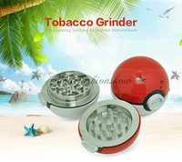 ball grinding machine - 55MM Poke Pocket Ball Manual Tobacco Grinder Smoking Cigarette Alloy Machine Smoke Grinding Detector Tools Gifts With Box Bag Z321