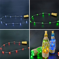 battery bottle warmer - Cork Shaped Bottle Stopper Light Garland Wine LED Plug Submersible Copper Wire String Lights For Christmas Party Supplies Wedding Halloween