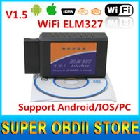 auto scan tool for pc - ELM327 WIFI OBD2 OBDII Auto Diagnostic Scanner Tool ELM WiFi interface scan Tool for smart phone PC hot selling