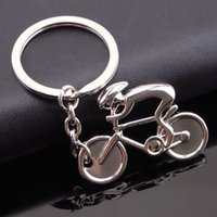 Cheap 2016 brand new fashion bicycle bike shaped metal key chain keychain key ring keyring mountain bike shape keychain for sports fans