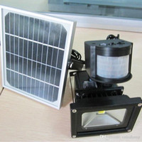 Wholesale 10W Rechargeable Solar Lamps Solar Powered LED Flood Light Outdoor Garden Projecting Landscape IP65 Lawn Lights OED Solar PIR W