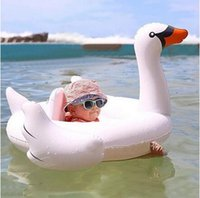 Wholesale 2016 New months Baby Swan Inflatable Flamingo Ride On Pool Toy Float inflatable swan pool Swim Ring Holiday Water Fun Pool Toys