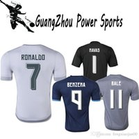 Wholesale France Football Jerseys All Blacks Nova La Liga De Futebol Madrid Jersei Sergioramos Ronaldo Kroos Benzema for James Bale Isco Marcelo