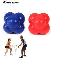 Wholesale Fitness hexagonal reaction ball sensitive ball tennis ball badminton reaction speed agility training ball Workout equipment