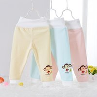 Wholesale cotton NEW Autumn Children s PP Pants boy girl Cartoon cotton pants belly care high waist baby pants