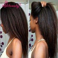 best african american wigs - Best Italian Yaki African American Full Lace Human Hair Wigs Best Glueless Brazilian Virgin Kinky Straight Lace Front Wigs