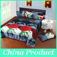 Wholesale Polyester D Flowers Duvet Cover Set Duvet Cover Bed Sheet Set Pillowcase Bedding Set Home textile