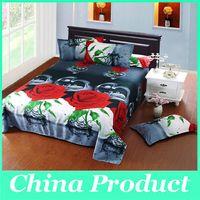achat en gros de 3d bed set-Taie Literie Accueil du textile Drap de Set Housse de couette Polyester Fleurs 3D housse de couette