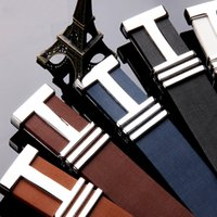 Wholesale Mens Designer Imitation Leather Fashion H Strap Waist High Quality Belts for Men Buckle Leisure PU leather belts
