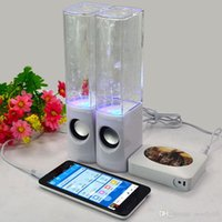 apple speaker system - colorful Dancing Water Speaker USB LED Light Led Portable Speaker for PC MP3 MP4 PSP MM Novelty speaker system