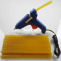 hot melt glue stick machine - Hot selling Electrical using blue hot glue gun professional with yellow hot melt glue sticks