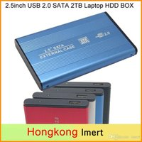 Wholesale Free DHL inch USB SATA TB External Storage Hard Disk Drive HDD Case Box Enclosure Converter Adapter Connector