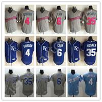 Wholesale Kansas City Royals Jerseys Alex Gordon MLB Baseball Jerseys Cool Base Lorenzo Cain Stitched GREY Pink Eric Hosmer