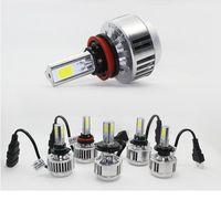 amber headlight bulbs - 3 Sides Car Headlamps H7 LED Headlights Bulbs W V Cars COB Chips Head Lamps k White Amber H8 H11 Xenon Light