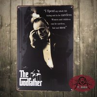 Wholesale The God father movie poster Art wall decor House Cafe Restaurant plaque vintage G Mix order CM