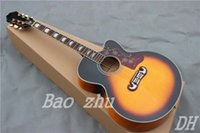 Wholesale John Lennon th J E VS Acoustic Dreadnought Guitar Vintage Sunburst Acoustic Electric Guitars New arrive Vintage Sunburst