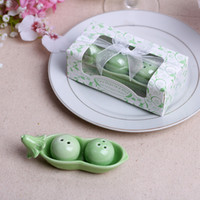 Wholesale Party Favors Two Peas in a Pod Ceramic Salt and Pepper Shakers