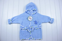 bath towel baby carter - Children s Pajamas Baby Boys Girls Bathrobe infant Hooded Bath Towel Robes kids Toddler Bathing Suits Bathrobes solid color soft cotton robe