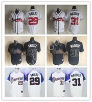 Wholesale 2016 Cheap Atlanta Braves Jerseys John Smoltz Men s sports MLB Baseball jerseys for sale Greg Maddux Jerseys Cool Base Elite Stitched
