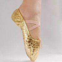 Wholesale Gold Silver Size Children Soft Sole Girls Flats Shoes Women Ballet Shoes For Kids Adult Ladies F6225 H210344