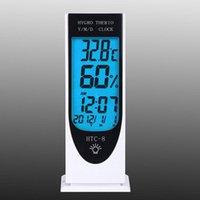 Wholesale Luminous Digital LCD Thermometer Temperature Humidity Hygrometer Night Light Alarm Clock Date Calendar