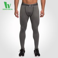 Wholesale Men s Base Layer Fitness Jogging Trousers Compression Tights Long Pants Sports Running Leggings Workout Gym Wear Solid
