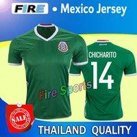 wholesale mexico - Thai Quality Copa America Mexico home CHICHARITO Soccer Jerseys mens Athletic Outdoor AQUINO G DOS SANTOS football shirts