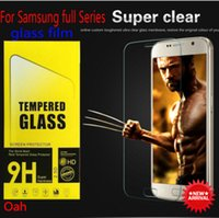 Wholesale Samsung Series Screen Protector Round Edge H hardness Tempered Glass for Samsung Galaxy S3 S4 S5 S6 S7