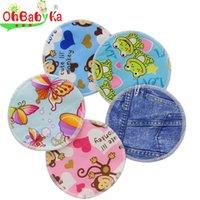 nursing breast pad - OhBabyKa Reusable Waterproof Breast Nursing Feeding Pad Reusable Organic Bamboo Nursing Pads Breathable Absorbency Stay Dry Ultra Thin