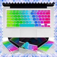 Wholesale Colorful Rainbow Keyboard Case Cover Silicone Skin Keyboard Protector for MacBook Air inch Retina Pro