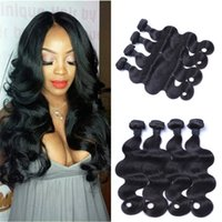 Wholesale Human Hair Body Wave Weaves Bundles Unprocessed A Indian Virgin Hair Natural Color Wefts Fast Shipping