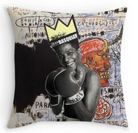 basquiat prints - Home Suqare Pillow Covers Custom Made basquiat white border Personalized Both Sides Printed Pillowcases