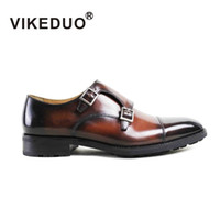 berluti men shoes - VIKEDUO MK Men s monk shoes hand made patina shoes Genuine leather shoes buckle shoes Hand painted shoes second to Berluti