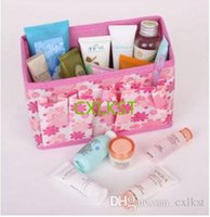 Wholesale Folding Multifunction Make Up Cosmetic Storage Box Container Bag Case Fashion Brand New Good Quality