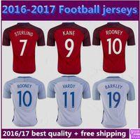 Wholesale Thai Quality Euro Cup England Soccer Jerseys HENDERSON16 WALCOTT KANE ROONEY STERLING BARKLEY RASHFORD shirts