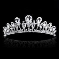 Wholesale 2016 New Rhinestone Bridal Crown for Women Bridesmaid Wedding Tiara Noiva Hair Jewelry Hair Accessories
