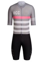 Wholesale rcc AEROSUIT Mens Cycling Jersey set Tracksuit Super Speed Suit Cycling Skinsuit Cyclewear One Piece Triathlon Skin Suit Bib Shorts Gray