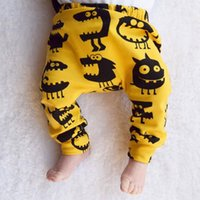baby boy big - Baby Pants leggings Big Monster dinosaur print baby harem pant PP Elastic trousers toddler Autumn new INS baby clothes outwear European