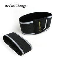Wholesale CoolChange Safety Cycling Reflective Straps Pair Leg Strap Cycling Pants Clip Reflective Cycling Safety Beam Belt Foot Straps